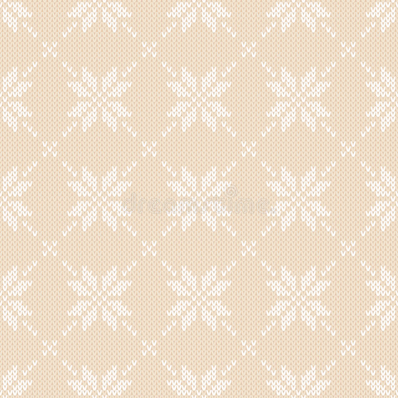 Winter Holiday Knitted Pattern With Snowflakes. Fair Isle Knitting ...