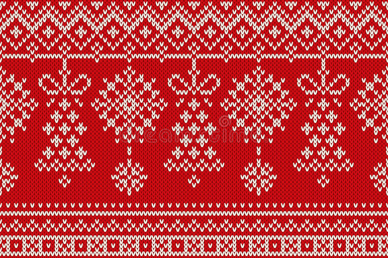 Christmas Knitting Background : Winter holiday seamless knitting pattern christmas and