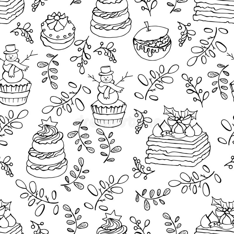 Winter holiday seamless pattern vector illustration