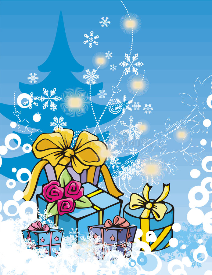 Winter holiday series vector illustration