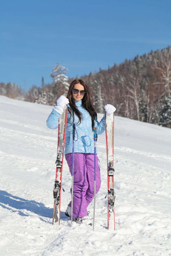 Download Winter holidays stock image. Image of skier, active, exercise - 26348861