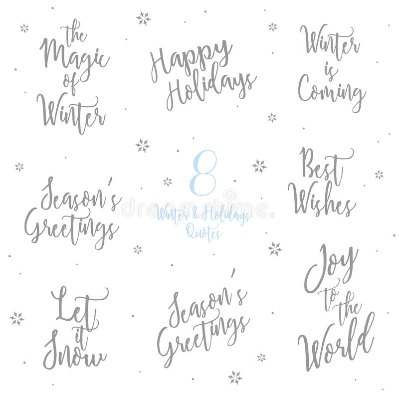 Winter and holidays quotes text calligraphy word font stock vector download winter and holidays quotes text calligraphy word font stock vector illustration of greeting m4hsunfo