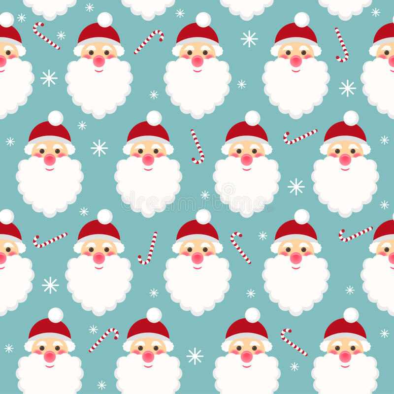 Winter holidays seamless pattern background with funny cartoon S vector illustration