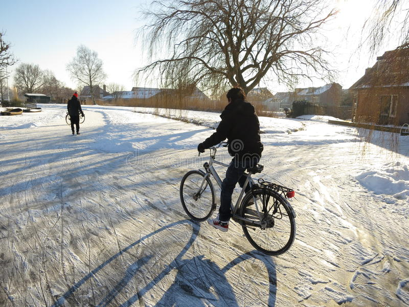 Winter in Holland royalty free stock photography