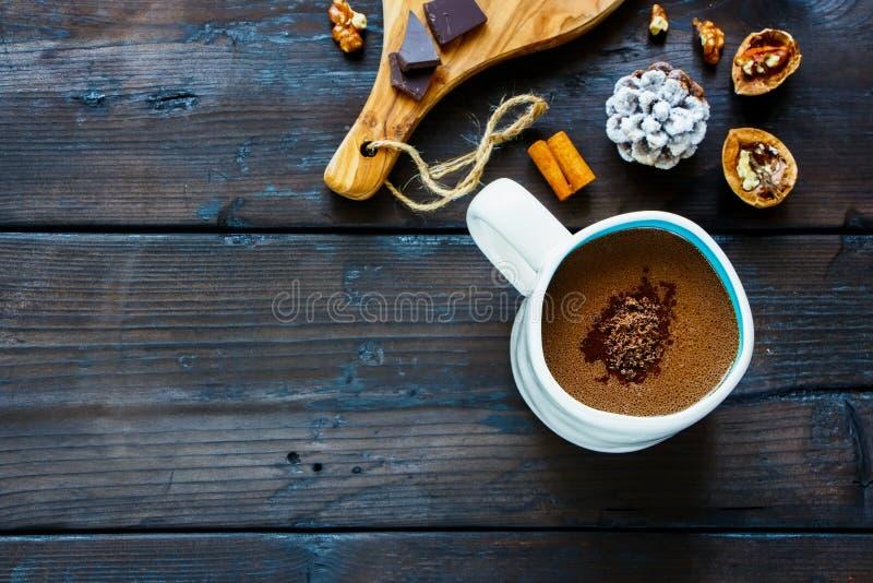 Winter hot chocolate stock photography