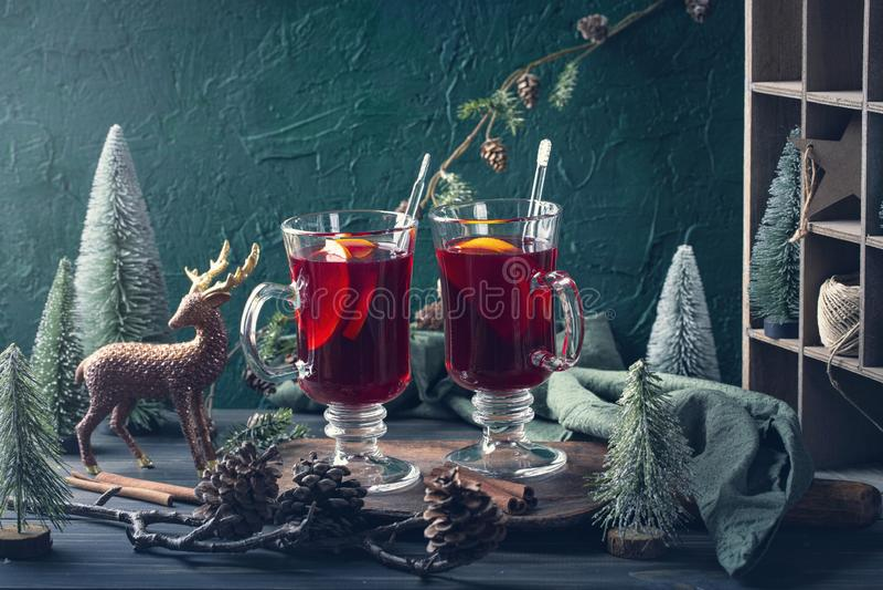 Winter hot drink stock photos
