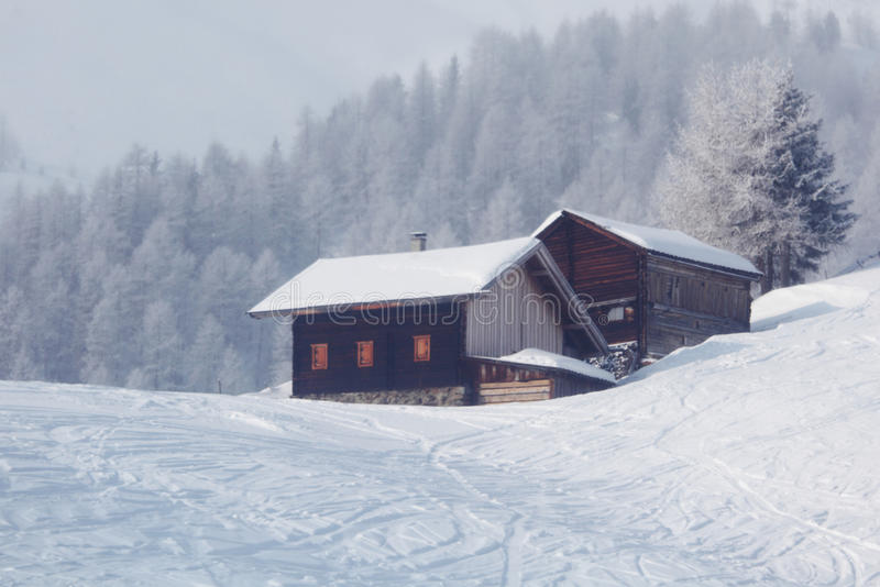 Download Winter house stock image. Image of dark, december, background - 23806955