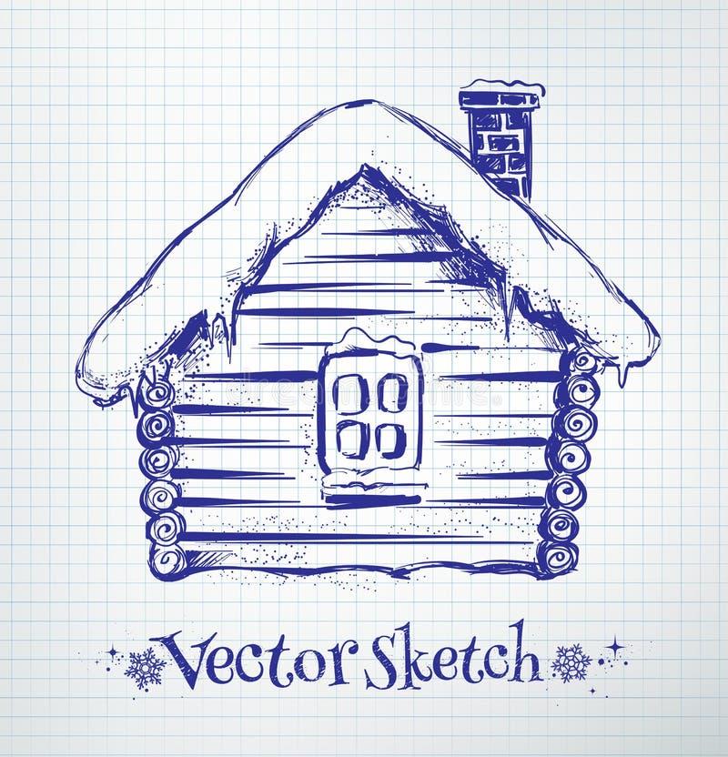 Winter house stock illustration