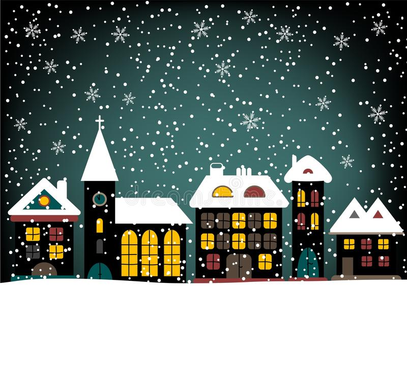 Download Winter houses stock vector. Image of snow, architecture - 17746874