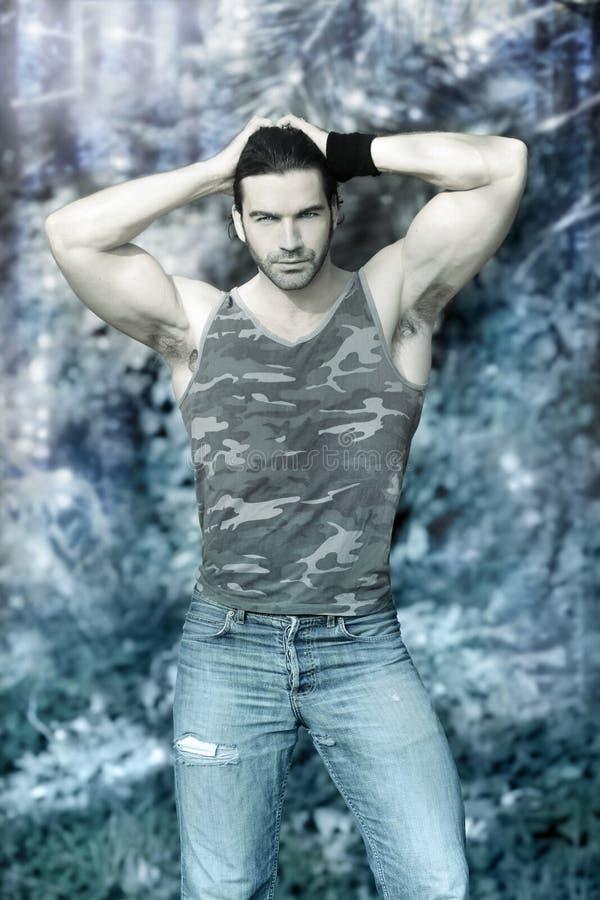 Download Winter hunk stock photo. Image of romance, buff, masculine - 23566642