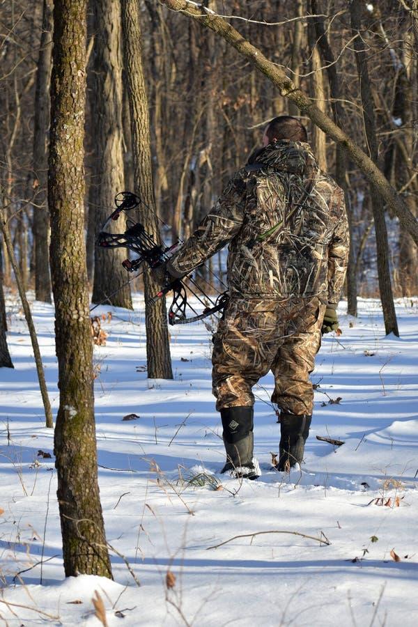 Winter hunter stock photo