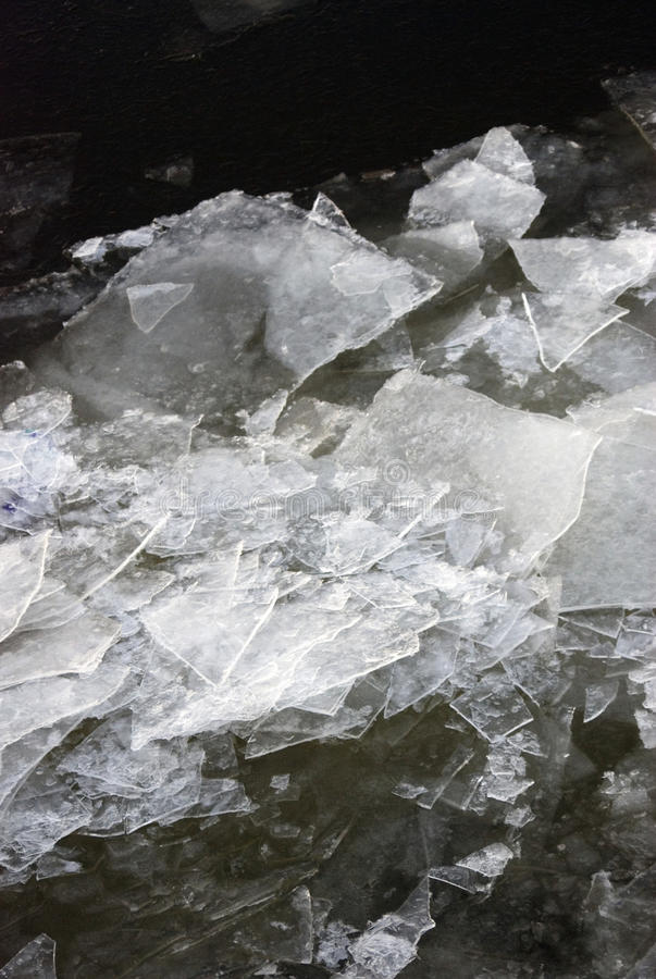 Winter ice, frozen river. Abstract color photo stock images