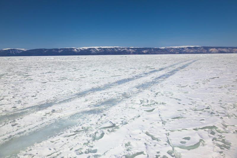Download Winter Ice Road Through Baikal Stock Image - Image of natural, baical: 39511587