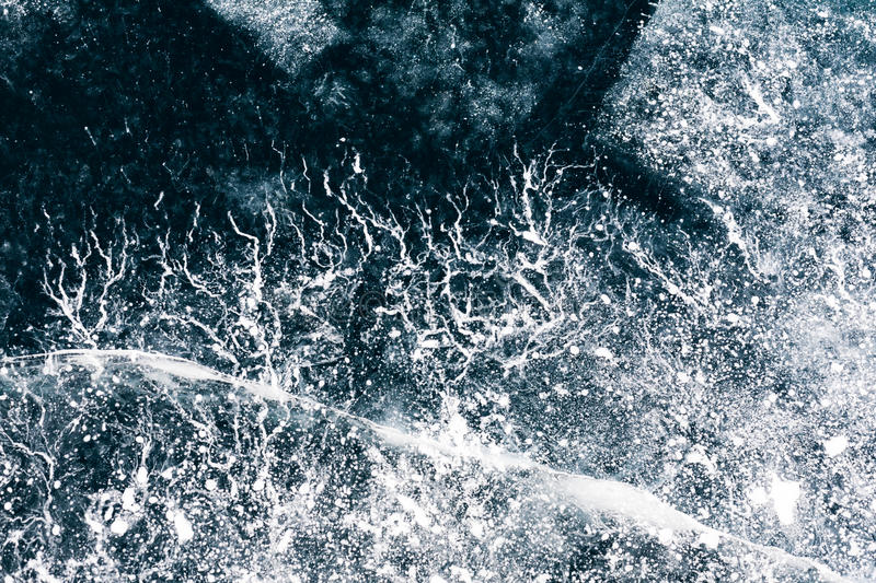 Winter. Ice on the surface of Lake Baikal. Ice thickness of abou royalty free stock images