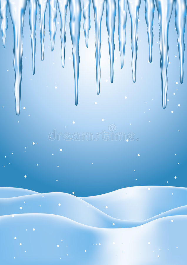 Winter Icicles stock illustration