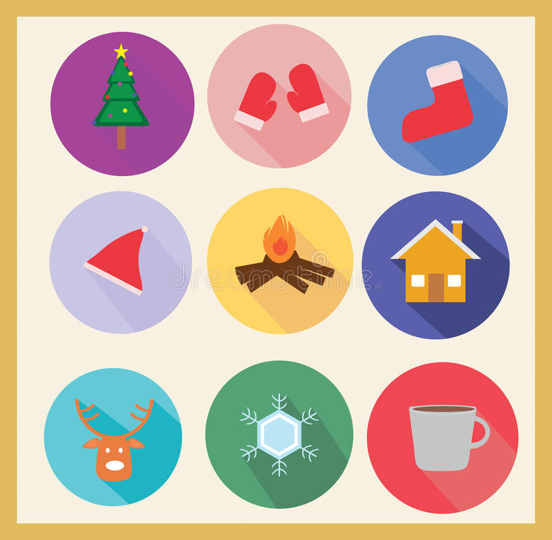Winter icon set stock photography