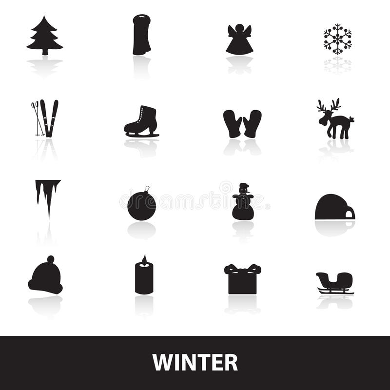 Download Winter icons eps10 stock vector. Image of snowflake, gloves - 40230813