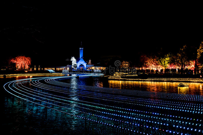 Winter illumination. Lights up during festival in Japan royalty free stock photos
