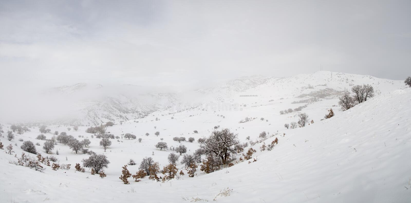 Winter im Dorf Dorf der Türkei Erzincan Ilic Danzi Ozlu lizenzfreie stockbilder