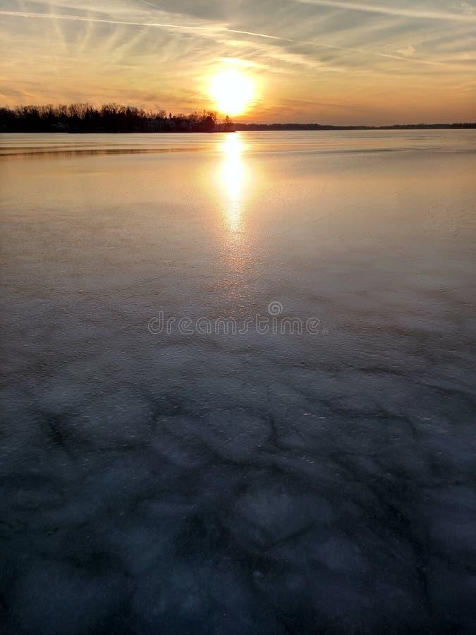 Winter im Großen See-Staat lizenzfreie stockfotografie