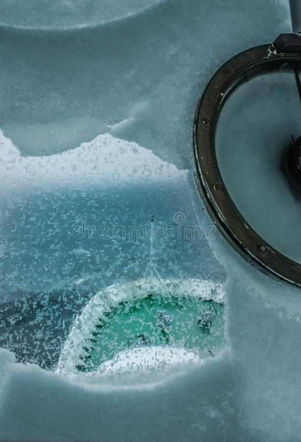 Winter im Meer lizenzfreie stockfotos