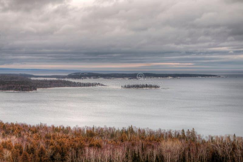 Winter im Tauben-Fluss-provinziellen Park in Nord-Ontario durch Th stockfoto