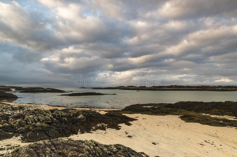 Arisaig Beach. A winter image of the beaches of Arisaig in Morar on the west coast of Scotland royalty free stock image