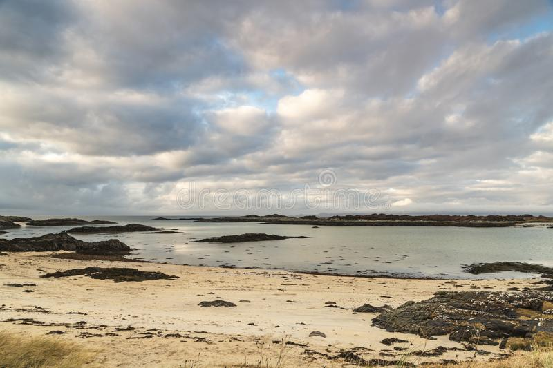 Arisaig Beaches. Winter image of the beaches of Arisaig in Morar on the west coast of Scotland royalty free stock image