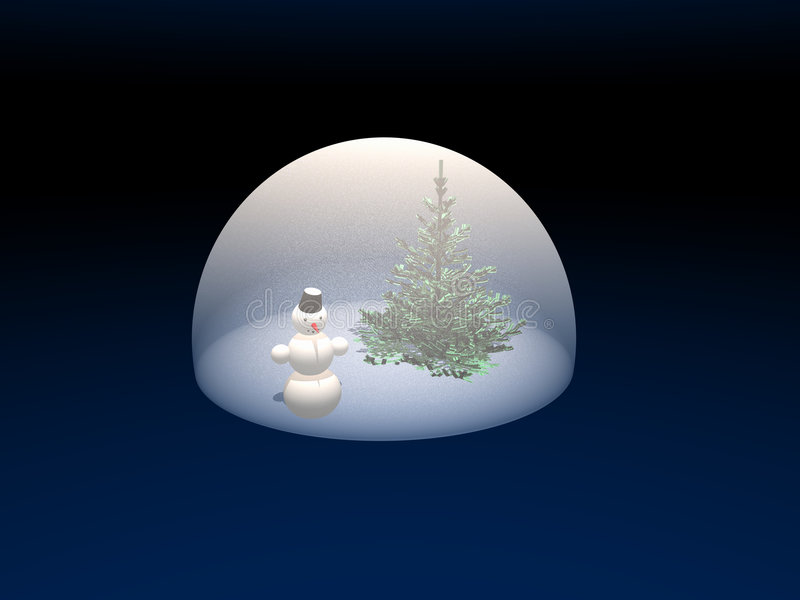 Winter imaginations. royalty free illustration