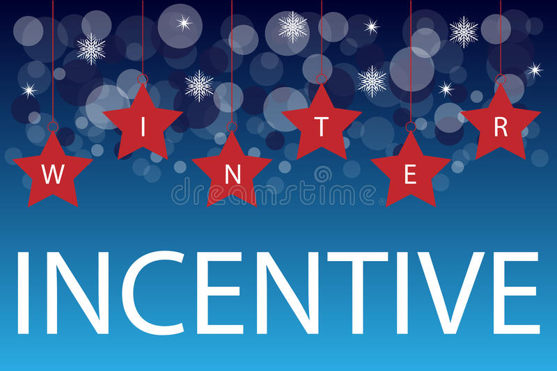 Winter incentive background stock image