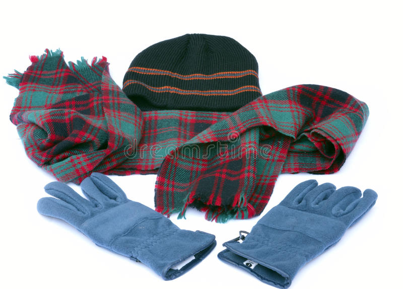 Winter items royalty free stock photo
