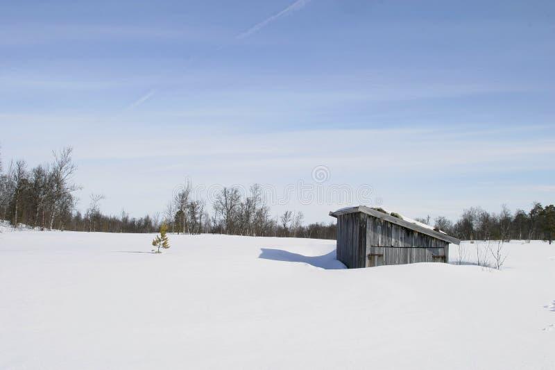 Winter-Kabine lizenzfreie stockfotos