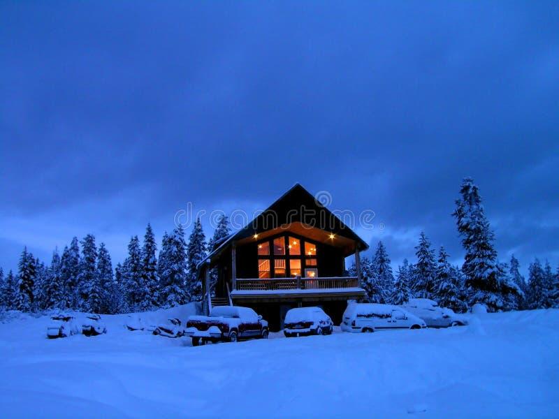 Winter-Kabine stockfotografie