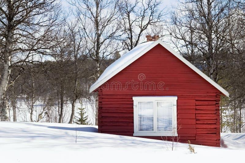 Winter-Kabine lizenzfreies stockbild