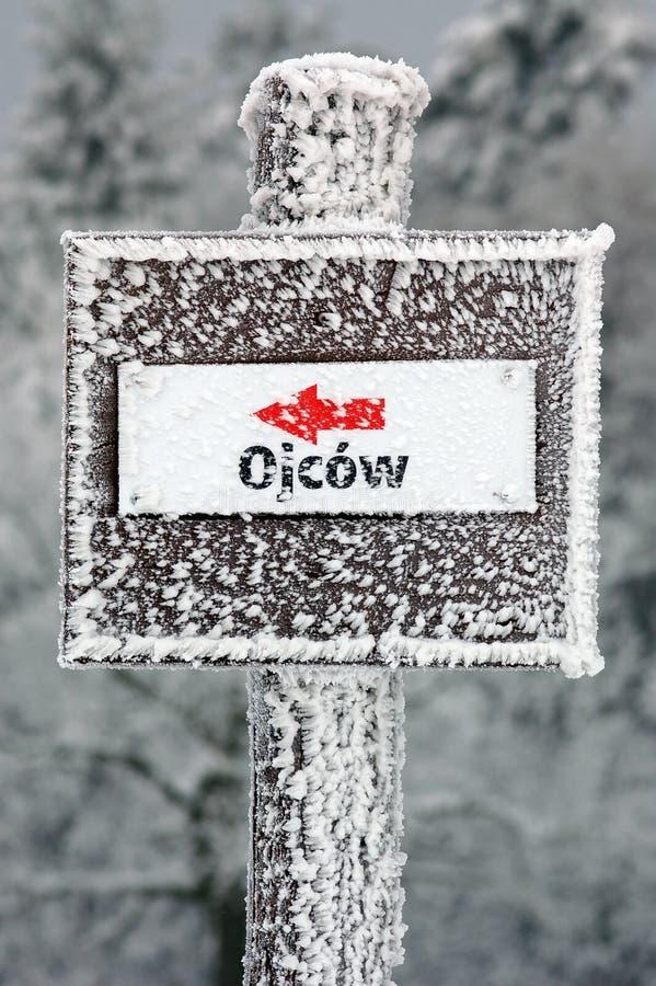 Download Winter Kennzeichnen Innen Ojcowski Nationalpark Stockfoto - Bild von holz, rauhreif: 26355132