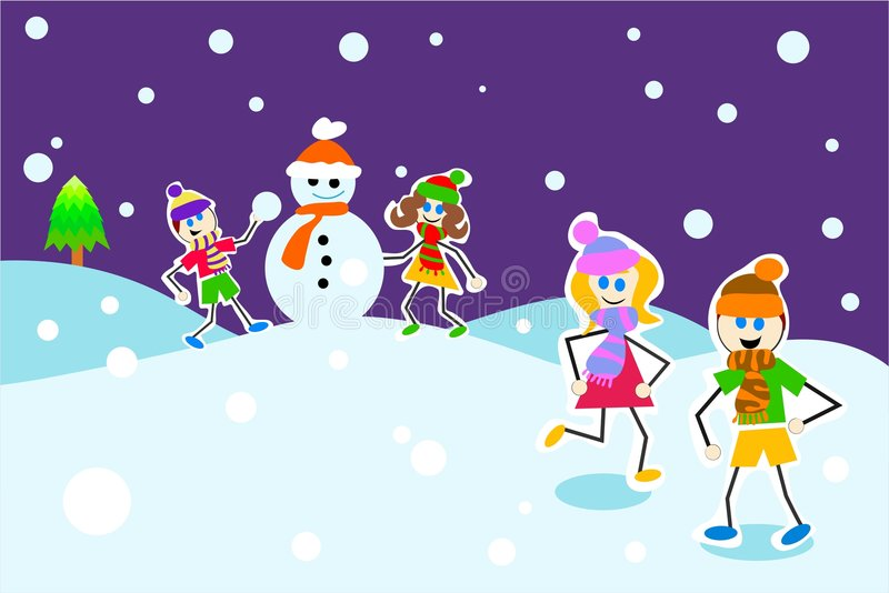 Download Winter Kids Royalty Free Stock Image - Image: 288266