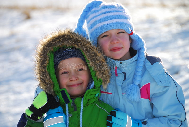 Winter kids royalty free stock photos
