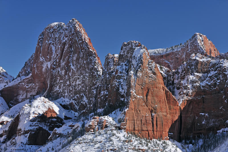 Winter, Kolob Canyons royalty free stock photos