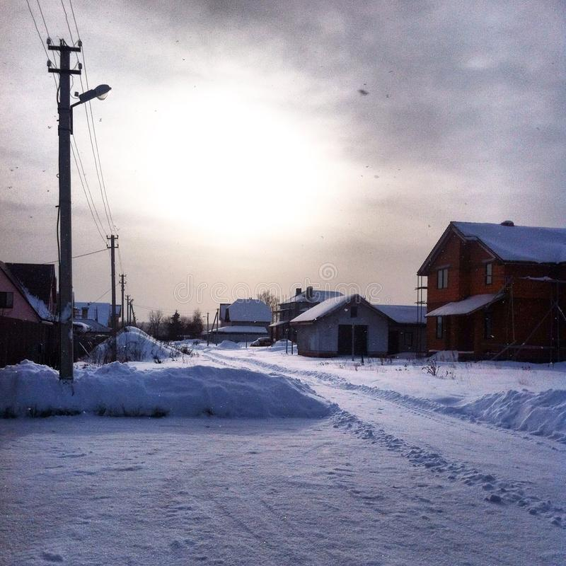 Winter kommt stockfoto
