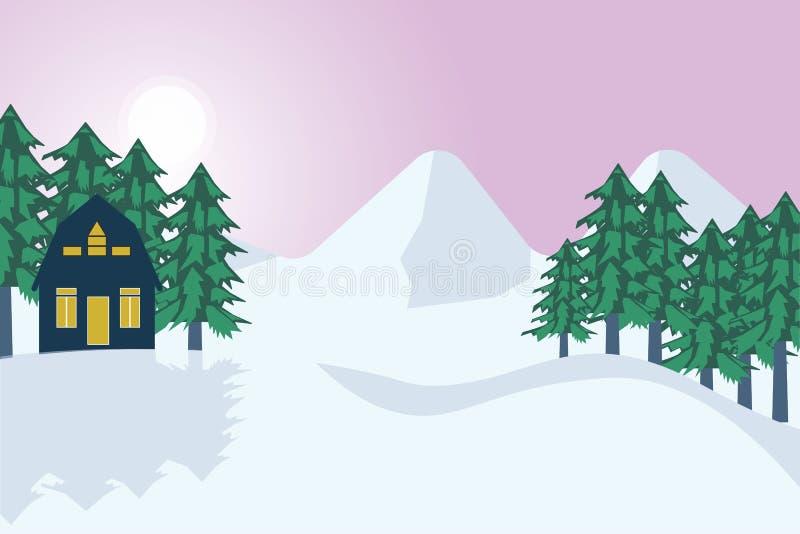 Winter kommt lizenzfreie abbildung