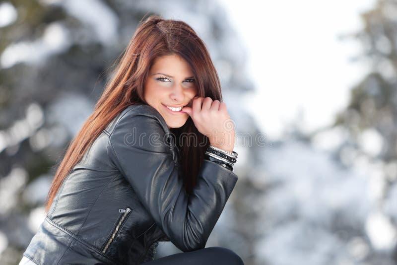 Winter-Lächeln lizenzfreie stockfotos