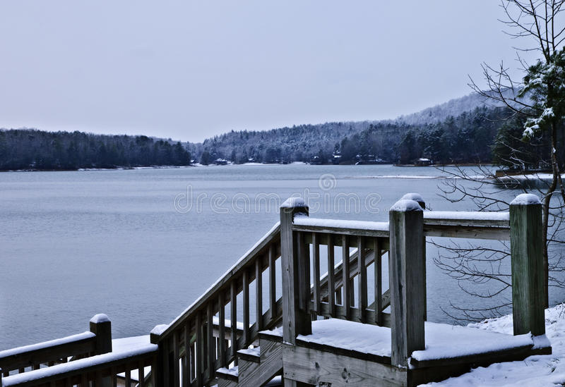 Winter Lake royalty free stock image