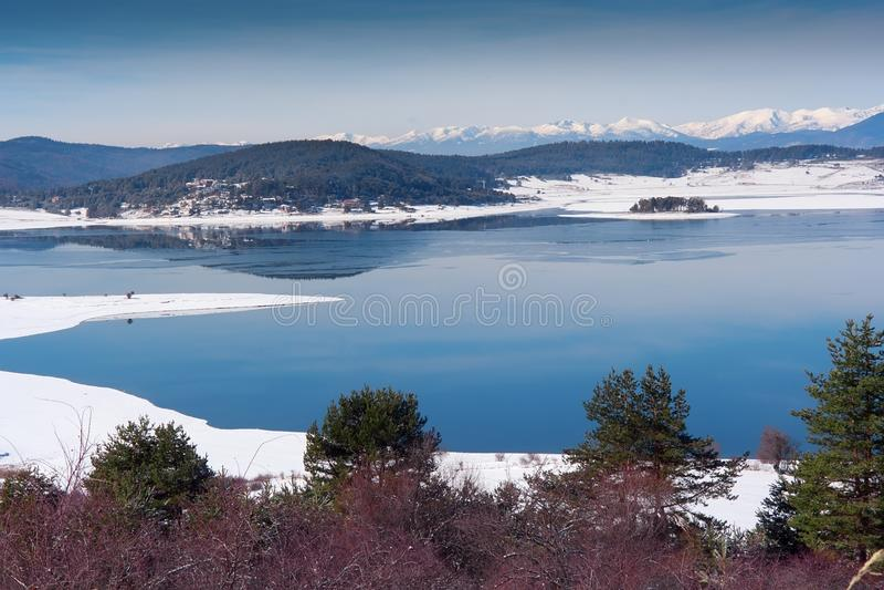 Download Winter lake stock photo. Image of blue, beach, shore - 28716484