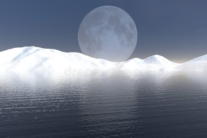 Download Winter Lake stock illustration. Image of digital, mountains - 3158478