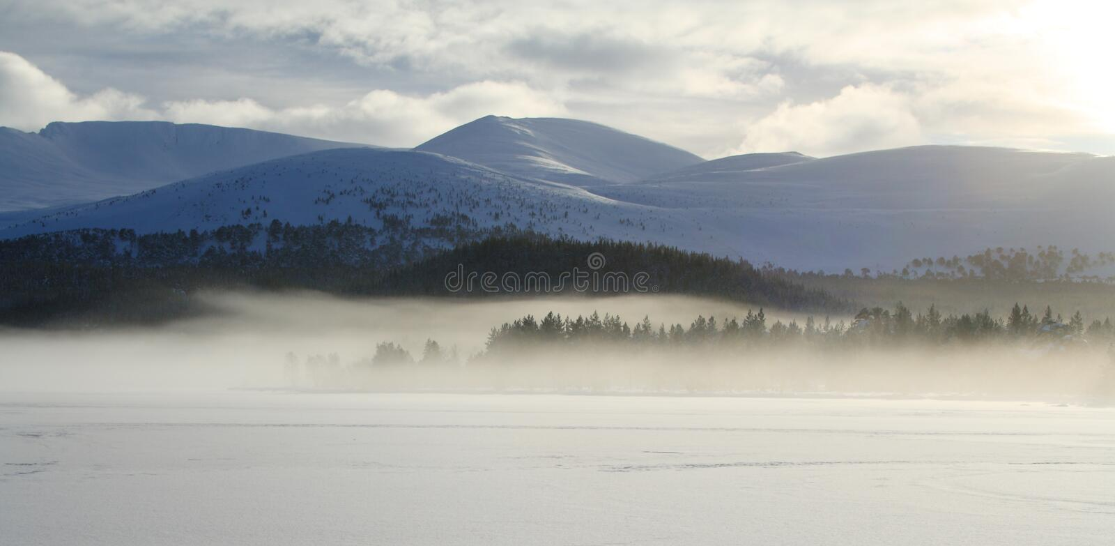 Winter lake landscape royalty free stock images