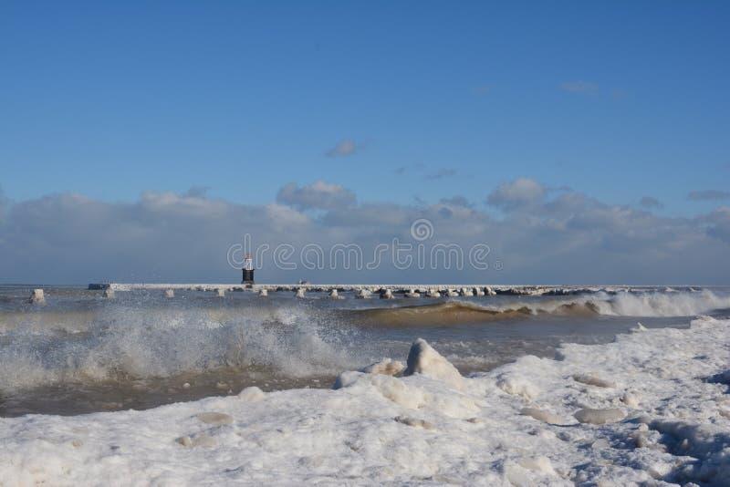 Winter Lakefront stock image