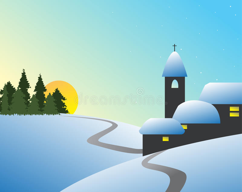 Winter Landcape Royalty Free Stock Photos