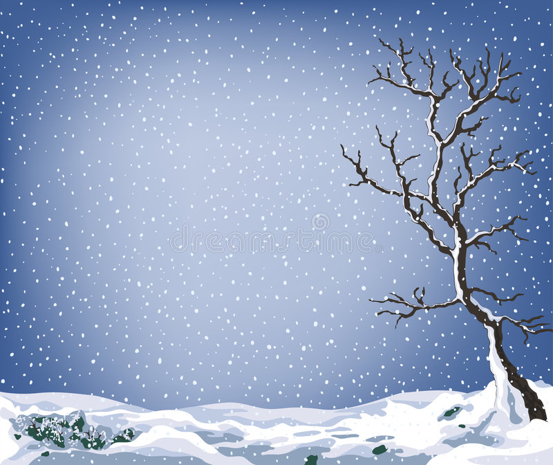 Winter landscape vector illustration