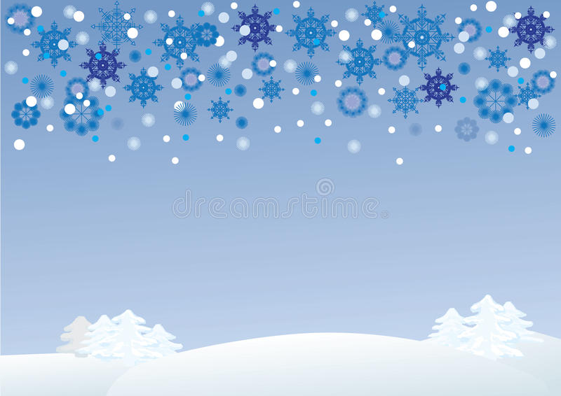 Download Winter landscape stock vector. Image of snowflakes, card - 21713003