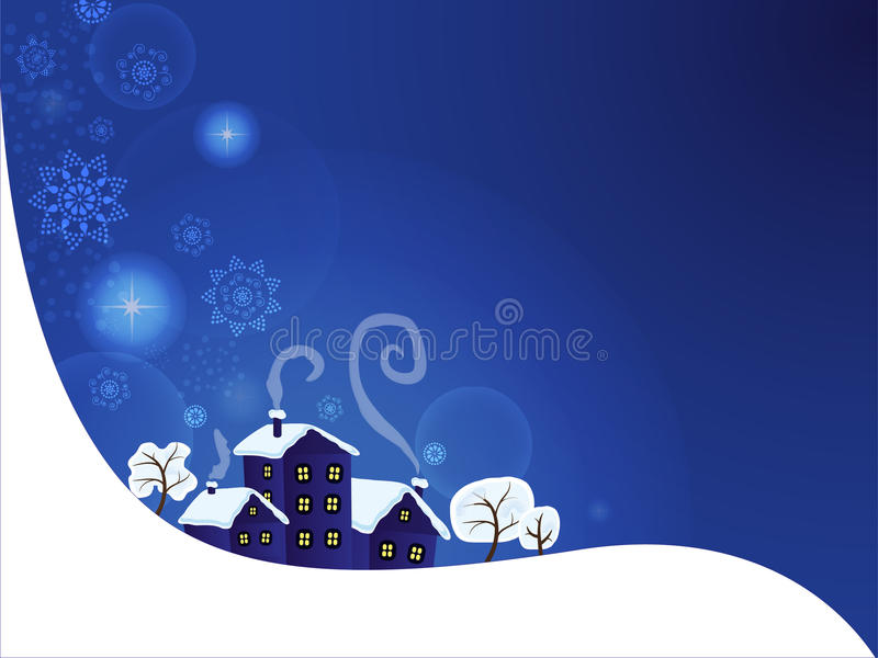 Download Winter landscape stock vector. Image of christmas, country - 22217657